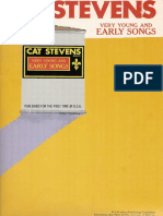 Book - Cat Stevens - Very Young and Early Songs [Pvg 34p]