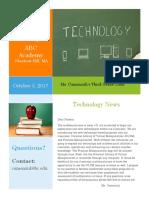 teaching math-technology newsletter