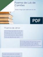 Poema de Luís de Camões