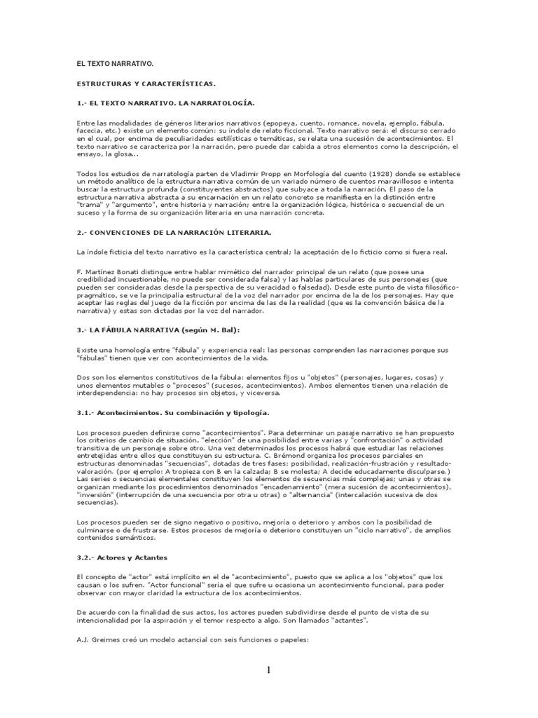 T 26 El Texto Narrativa Estructura Y Característica Lengua