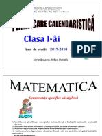 Planificare de lunga durata la  matematica cl 1