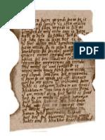Ancient Old English manuscript