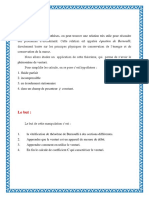 Vérification Du Théorème de Bernoulli