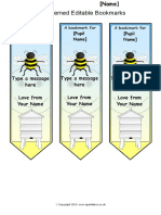 Bookmark Template 03