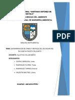 determinación d metales del rió PARIA-HUARAZ