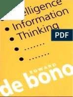 Edward De Bono Intelligence, Information, Thinking.pdf