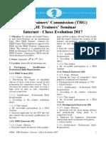 FIDE Seminar 16-17 Septiembre