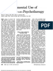 The Experimental Use of Psychedelic (LSD) Psychotherapy