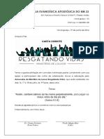 Carta Convite Ministério de Louvor