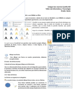 Insertar WordArt y Forma en Office