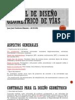 Manual de Diseño Geometrico de Vías- Resumen