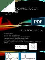 ácidos carboxílicos y ésteres