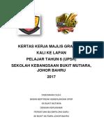 Kertas Kerja Majlis Graduasi