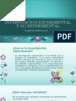 Investigacion Experimental y No Experimental