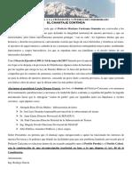 Carta Abierta a La Ciudadanía y Pueblo de Chimborazo