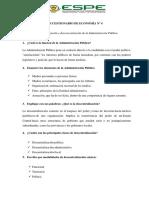 Cuestionario de La Descentralización