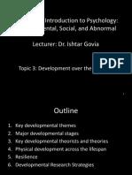 PSYC 1000 Topic 3 Development Over the Lifespan