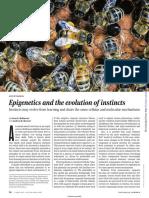 Epigenetica Instintos y Aprendisaje