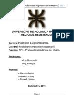 TRABAJO PRACTICO N°1 - INSTALACIONES INDUSTRIALES REGIONALES