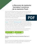Flash Data Recovery de Memoria