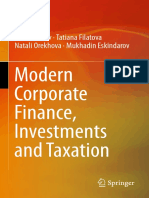 Peter Brusov, Tatiana Filatova, Natali Orekhova, Mukhadin Eskindarov Auth. Modern Corporate Finance, Investments and Taxation