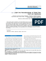 An Insight Into Neurophysiology of Pulpal Pain Facts and Hypotheses