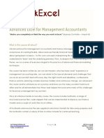 Advanced Excel for Management Accountants