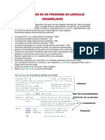 Estructura de Un Programa en Lenguaje Ensamblador