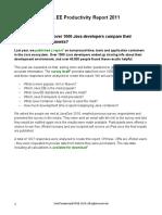JAVA EE Productivity Report 20112