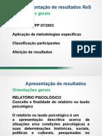 Apresentação de resultados laudos, relatórios, listas de classificação.pdf