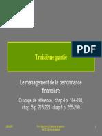 Contrôle de Gestion Le Management de La Performance Financière