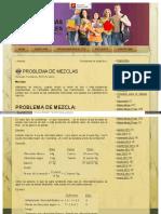 Matematicasvirtuales Com Blog Problema de Mezclas