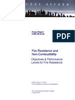 FCRC PR 96 03 Objectives Performance Levels Fire Resistance