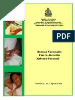 Normas Nacionales de Atencion Materno-neonatal[1]