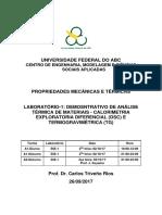 Laboratório 1 - Demonstrativo de Análise - DSC e TGA