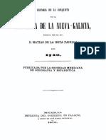 Historia de La Conquista de La Provincia de La Nueva Galicia