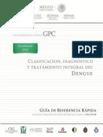 Clasificacion, Diagnostico y Tratamiento Integral Del Dengue