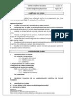 Gestión de la Calidad. Programa de la Cátedra. Universidad Santa María.
