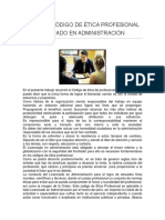 Resumen Código de Ética Profesional Del Licenciado en Administración