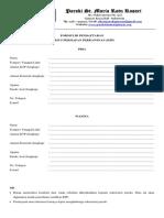 Formulir Pendaftaran Kursus Persiapan Perkawinan (KPP)