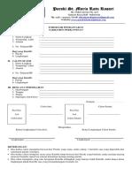 Formulir Pendaftaran Sakramen Perkawinan