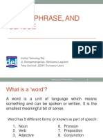 Week 01 English 2 Word Phrase Clause