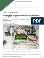 RFID Based Toll Plaza System Using AVR Microcontroller (ATmega32)