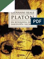 Platón, En Búsqueda de La Sabiduría Secreta - Giovanni Reale