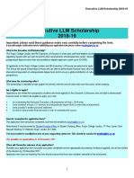 Executive LLM Scholarship 2018 19