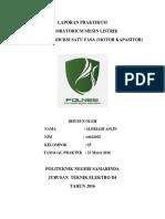 Laporan Praktikum Mesin Listrik Job Motor Capasitor