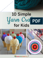 10 Simple Yarn Crafts for Kids Free eBook