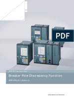 Breaker Pole Discrepancy Function