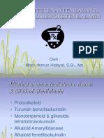 Alkaloid Turunan Fenilalanin