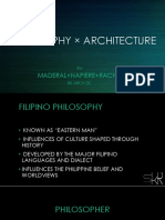 PHILOSOPHY × ARCHITECTURE
